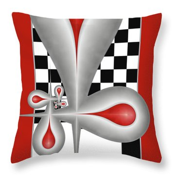 Drops On A Chess Board Throw Pillow by Gabiw Art