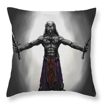 Drow Throw Pillow by Matt Kedzierski