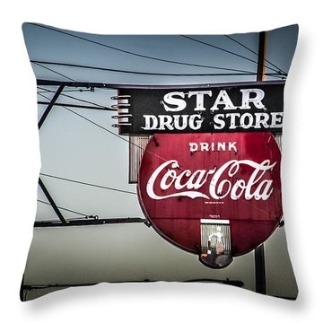 Drug Store Throw Pillow by Perry Webster