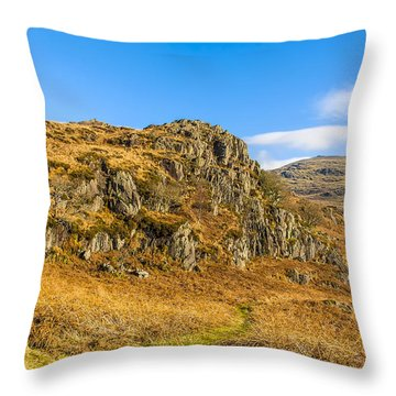 Duddon Valley Lake District Throw Pillow by Trevor Kersley
