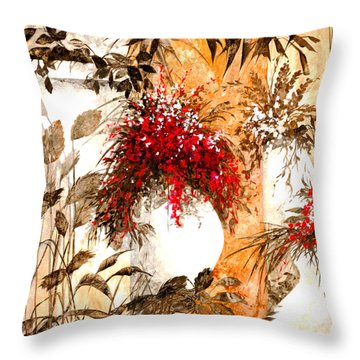 Due Bianca Throw Pillow by Guido Borelli