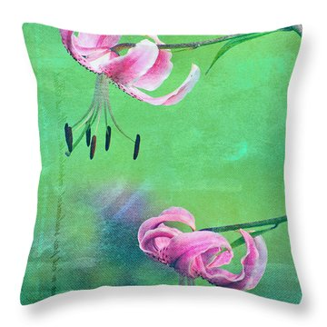 Duet - 9t01b Throw Pillow by Variance Collections