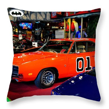Dukes Of Hazzard Throw Pillow by Frozen in Time Fine Art Photography
