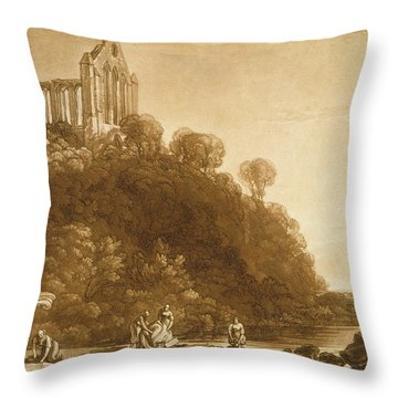 Dunblane Abbey Throw Pillow by Joseph Mallord William Turner