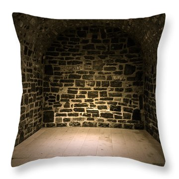 Dungeon Throw Pillow by Edward Fielding