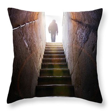 Dungeon Exit Throw Pillow by Carlos Caetano