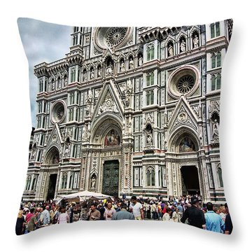 Duomo Of Florence Throw Pillow by Allen Beatty