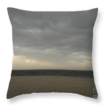 Dusk Beach Walk  Throw Pillow by Joseph Baril
