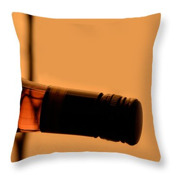 Dusty Bottle Throw Pillow by Toppart Sweden