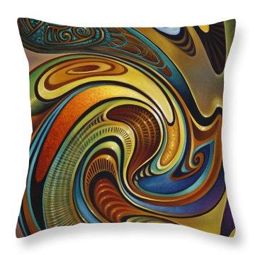 Dynamic Series #19 Throw Pillow by Ricardo Chavez-Mendez