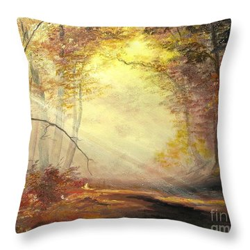 Early In The Morning Throw Pillow by Sorin Apostolescu