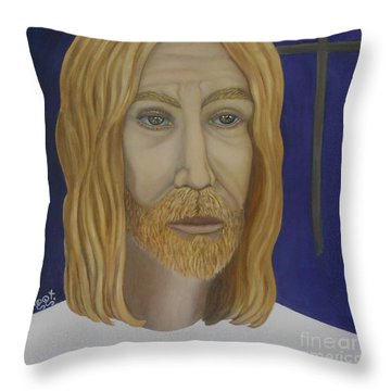 Early Perception Of Jesus. Throw Pillow by Caroline Street