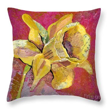 Early Spring I Daffodil Series Throw Pillow by Shadia Derbyshire
