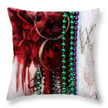 Earrings For Marie Throw Pillow by John Rizzuto