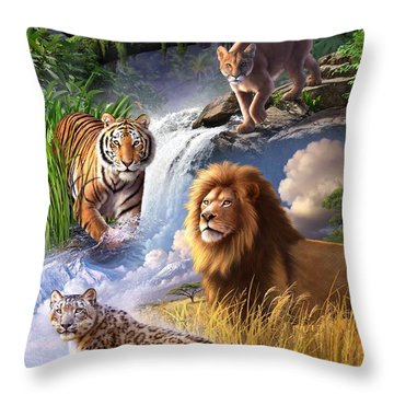 Earth Day 2013 Poster Throw Pillow by Jerry LoFaro
