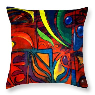 Earth Throw Pillow by Marcello Cicchini