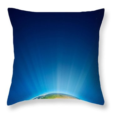 Earth Radiant Light Series - Europe Throw Pillow by Johan Swanepoel