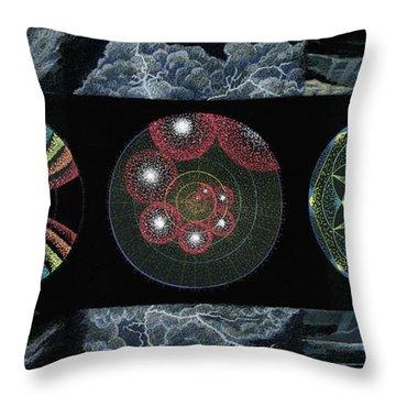 Earth's Beginnings Throw Pillow by Keiko Katsuta