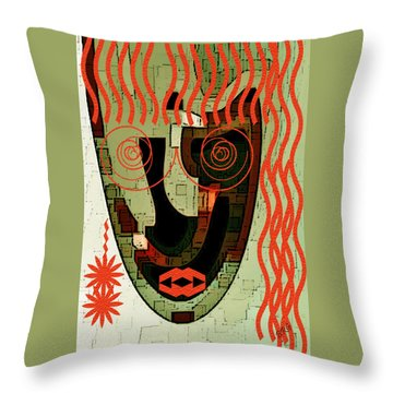 Earthy Woman Throw Pillow by Ben and Raisa Gertsberg