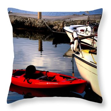 Ease Of The Keys Throw Pillow by Karen Wiles