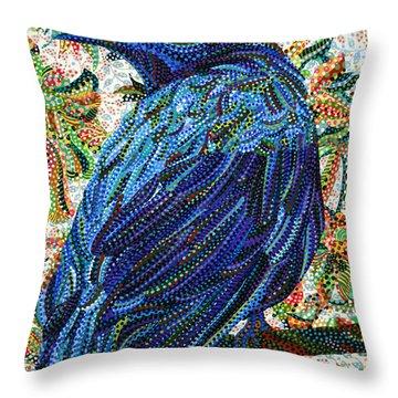 Eavesdropping Throw Pillow by Erika Pochybova