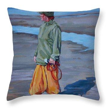 Ebb Tide Throw Pillow by Derrick Higgins
