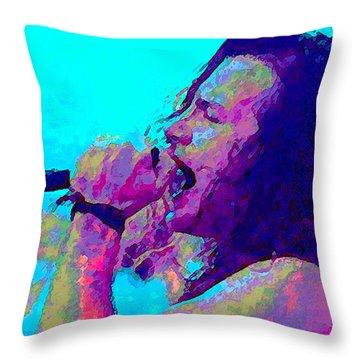 Eddie Vedder Throw Pillow by John Travisano