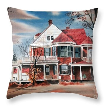 Edgar Home Throw Pillow by Kip DeVore