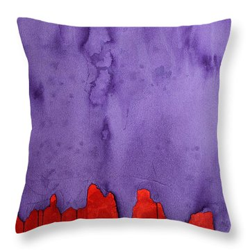 Edge Of The West Original Painting Throw Pillow by Sol Luckman