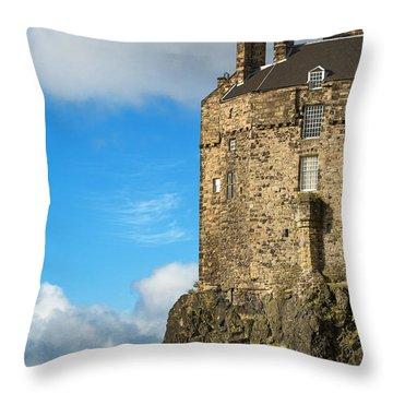 Edinburgh Castle Detail Throw Pillow by Jane Rix