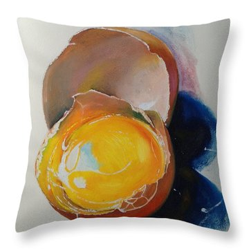Egg.. Throw Pillow by Alessandra Andrisani