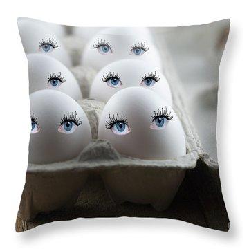 Eggs Throw Pillow by Juli Scalzi