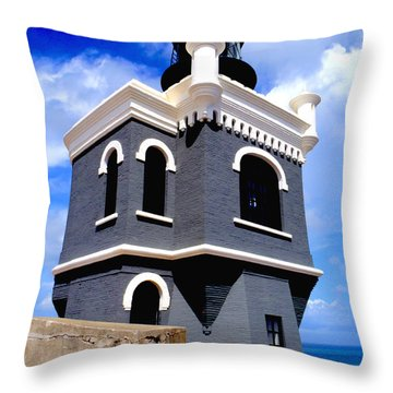 El Morro Lighthouse Throw Pillow by Carey Chen