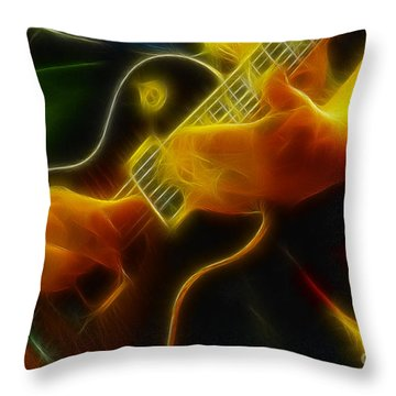 Electric Slide Fractal Throw Pillow by Gary Gingrich Galleries