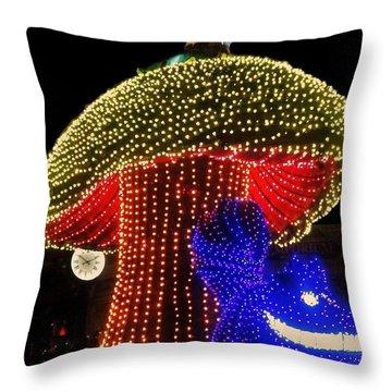 Electrical Wonderland Throw Pillow by Benjamin Yeager