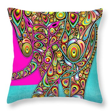 Elefantos - Bg01ac02 Throw Pillow by Variance Collections