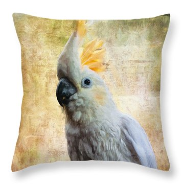 Elegant Lady Throw Pillow by Lois Bryan