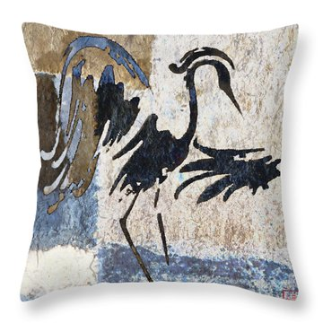 Elegant Movement Throw Pillow by Carol Leigh