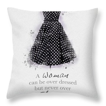 Elegant Throw Pillow by Rebecca Jenkins