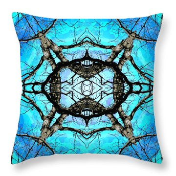 Elemental Force Throw Pillow by Shawna Rowe