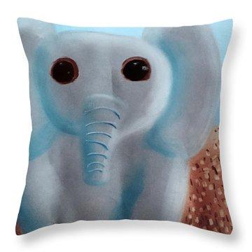 Elephant Throw Pillow by Joshua Maddison
