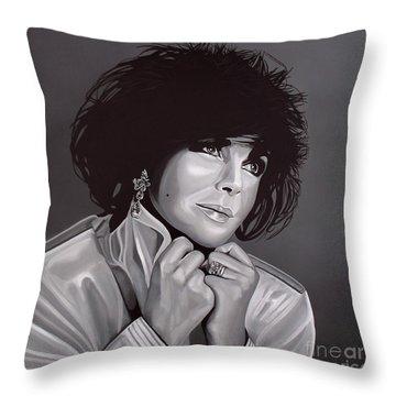 Elizabeth Taylor Throw Pillow by Paul Meijering