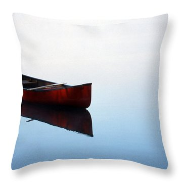 Elizabeth's Canoe Throw Pillow by Skip Willits