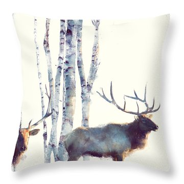 Elk // Follow Throw Pillow by Amy Hamilton