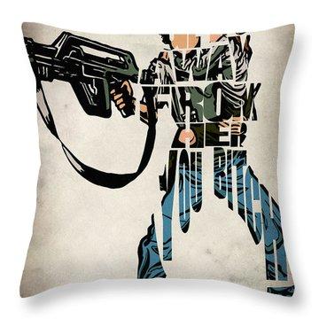 Ellen Ripley From Alien Throw Pillow by Ayse Deniz