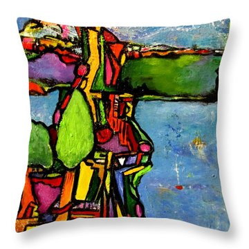 Elliott Bay Throw Pillow by Chaline Ouellet