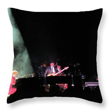 Elton And Band Throw Pillow by Aaron Martens