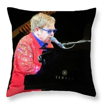 Elton John Live Throw Pillow by Aaron Martens