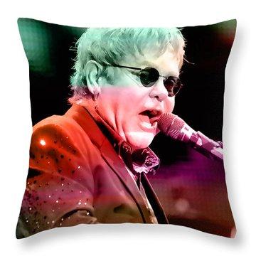 Elton John Throw Pillow by Marvin Blaine
