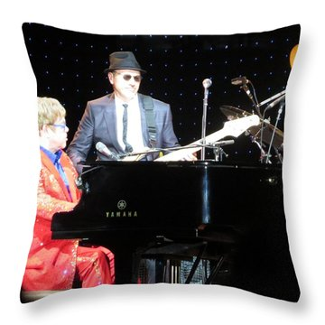 Elton Plays The Blues In Macon Ga Throw Pillow by Aaron Martens